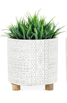 Hamptons Cement Planter with Legs