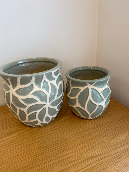 Maeve Olive Green Ceramic Pot 15cms