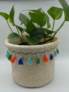 Pot with Tassels