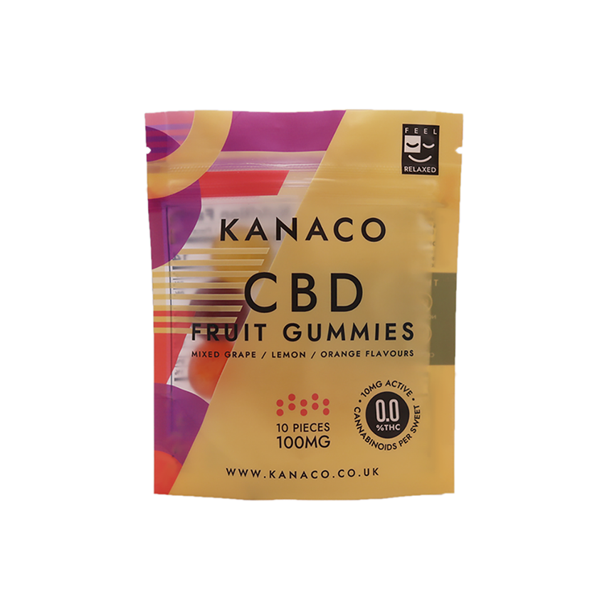 CBD Fruit Gummies - 10mg - Kanaco
