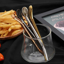 Load image into Gallery viewer, Stainless Steel Filter Spoon Straw