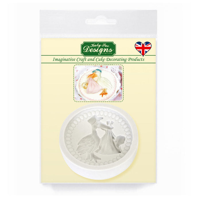 C&D - Stork & Baby Cupcake Mold Pack Shot