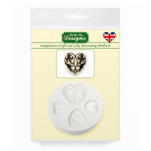 C&D - Elegant Hearts Silicone Mold pack shot