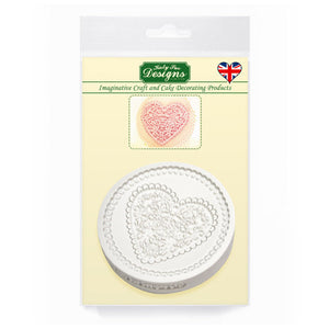 C&D - Lace Heart Cupcake Topper Mold Pack Shot
