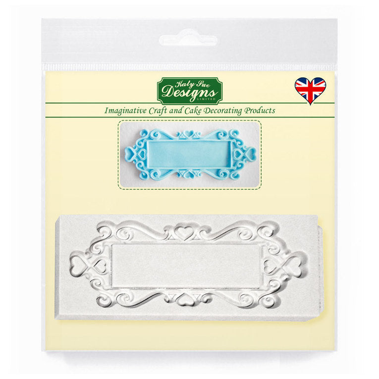 C&D - Rectangle Hearts Decorative Plaque Silicone Mold pack shot