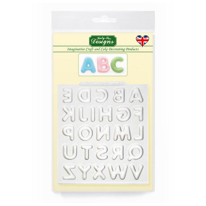 C&D - Domed Alphabet Silicone Mold pack shot