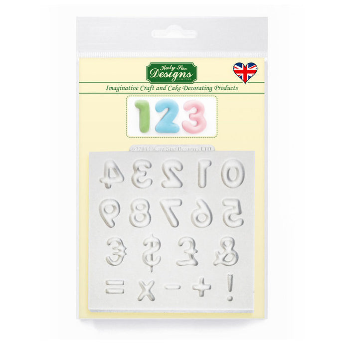 C&D - Domed Numbers Silicone Mold pack shot