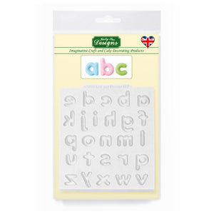 C&D - Domed Alphabet Lower Case Silicone Mold pack shot