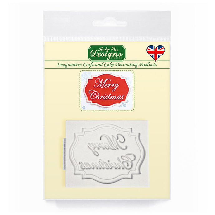 C&D - Merry Christmas Mini Plaque Silicone Mold pack shot