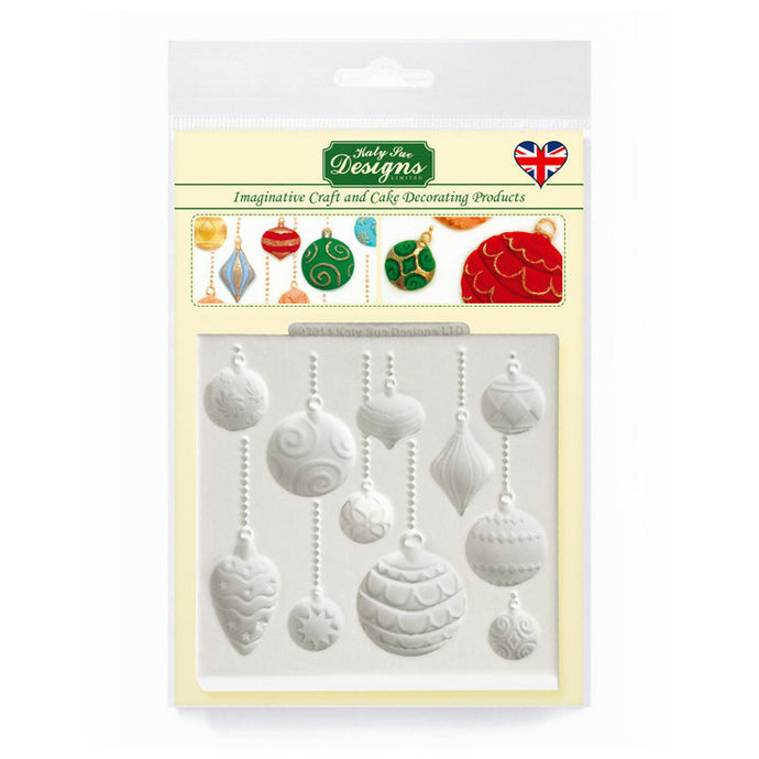 C&D - Christmas Baubles Silicone Mold pack shot