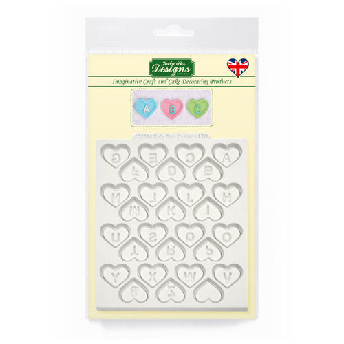 C&D - Heart Alphabet Silicone Mold pack shot