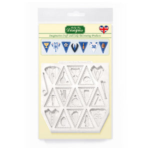 C&D - Bunting for Boys Silicone Mold pack shot
