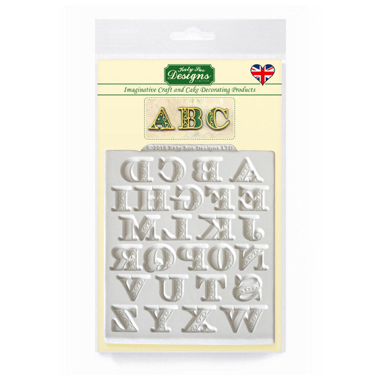 C&D - Manuscript Alphabet Silicone Mold pack shot