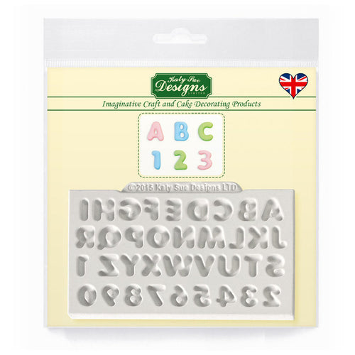 C&D - Mini Domed Alphabet Silicone Mold Pack Shot