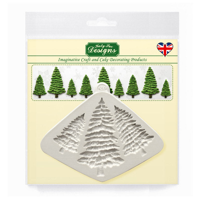 C&D - Fir Trees Silhouettes Silicone Mold pack shot