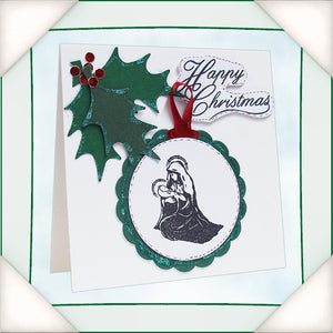 C - An idea using the Silhouette Stamp - Christmas Blessings product