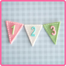 CD - An idea using the Bunting Numbers Silicone Mold product