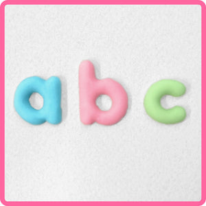 CD - An idea using the Domed Alphabet Lower Case Silicone Mold product