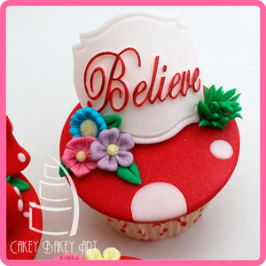 CD - An idea using the Believe Mini Plaque Silicone Mold product