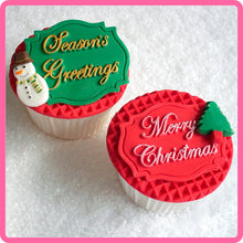 CD - An idea using the Seasons Greetings Mini Plaque Silicone Mold product