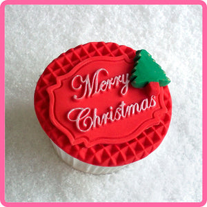 CD - An idea using the Merry Christmas Mini Plaque Silicone Mold product