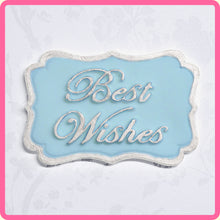CD - An idea using the Best Wishes Mini Plaque Silicone Mold product