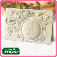 CD - An idea using the Vintage Christmas Plaque - Circle Aperture product