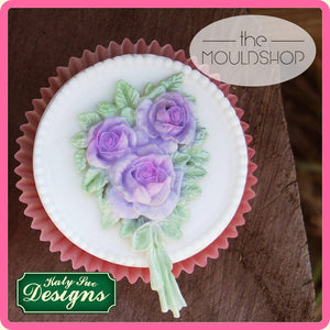 CD - An idea using the Rose Bouquet Silicone Mold product