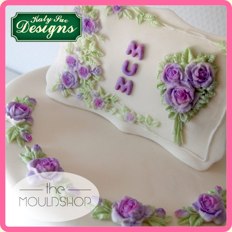 Katy Sue Designs ROSE BORDER PLAQUE CP0015 Cake Crafting Mould