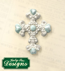 C&D - An idea using the Beaded Cross Silicone Mould product