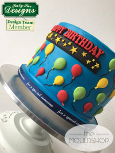 CD - An idea using the Happy Birthday Stars Banner Silicone Mold product