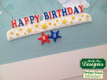 C - An idea using the Happy Birthday Stars Banner Silicone Mold product