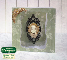 C - An idea using the Oval Cameo & Oval Frame 2 Silicone Mold product