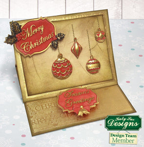 C - An idea using the Merry Christmas Mini Plaque Silicone Mold product