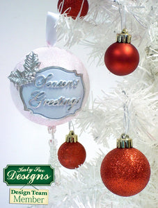 C - An idea using the Seasons Greetings Mini Plaque Silicone Mold product