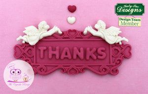 CD - An idea using the Rectangle Hearts Decorative Plaque Silicone Mold product