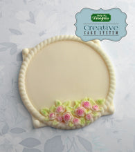 CD - An idea using the Petite Rose Circle Plaque Silicone Mold product