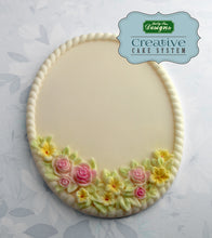 CD - An idea using the Petite Fleur Oval Plaque Silicone Mold product