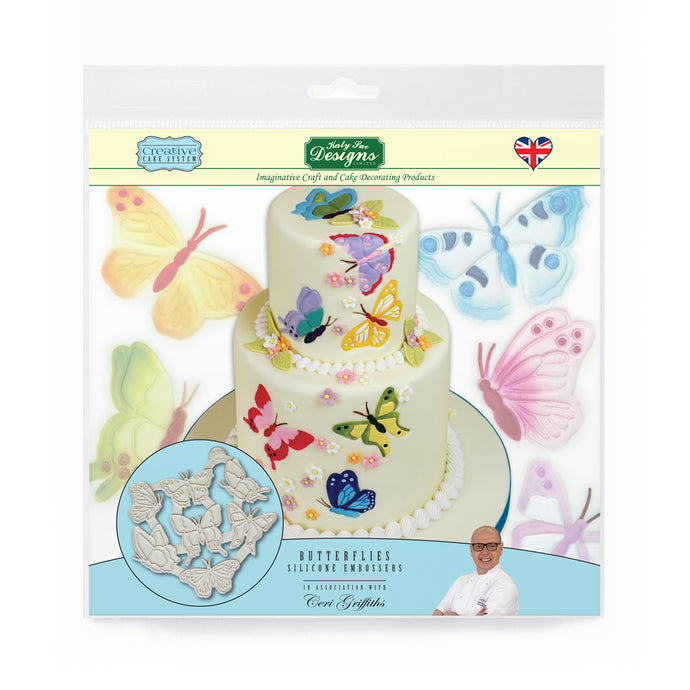 C&D - Butterflies Silicone Embossers