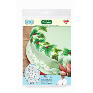 Holly & Mistletoe Silicone Embosser Mold