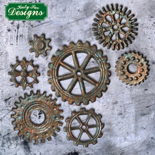 C&D - Distressed Cogs Silicone Mold