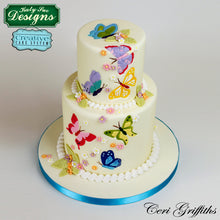 C&D - Cake Idea using Butterflies Silicone Embosser