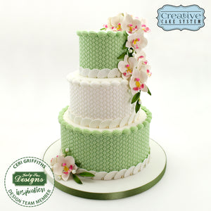 CD - Cake Idea using Continuous Rattan Basket Weave