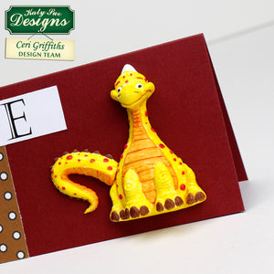 C - Diplodocus Cake and craft mould