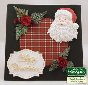 C - Happy Christmas Large Plaque Mold