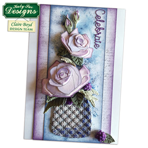 C - Craft Idea using Roses Silicone Embosser