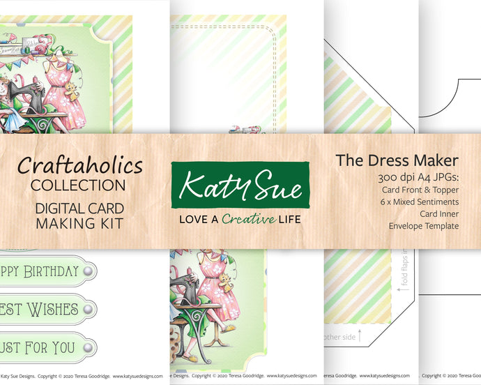 Craftaholics The Dress Maker | Digital Card Making Kit