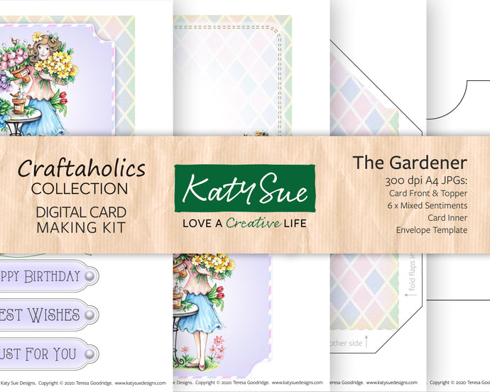 Craftaholics The Gardener | Digital Card Making Kit