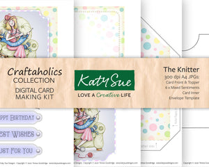 Craftaholics The Knitter | Digital Card Making Kit