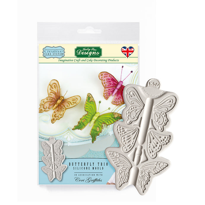 C&D - Butterfly Trio Creative Cake System Silicone Mold pack shot
